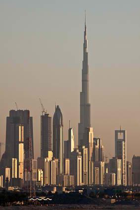 Der burj khalifa, der derzeit höchste wolkenkratzer der welt